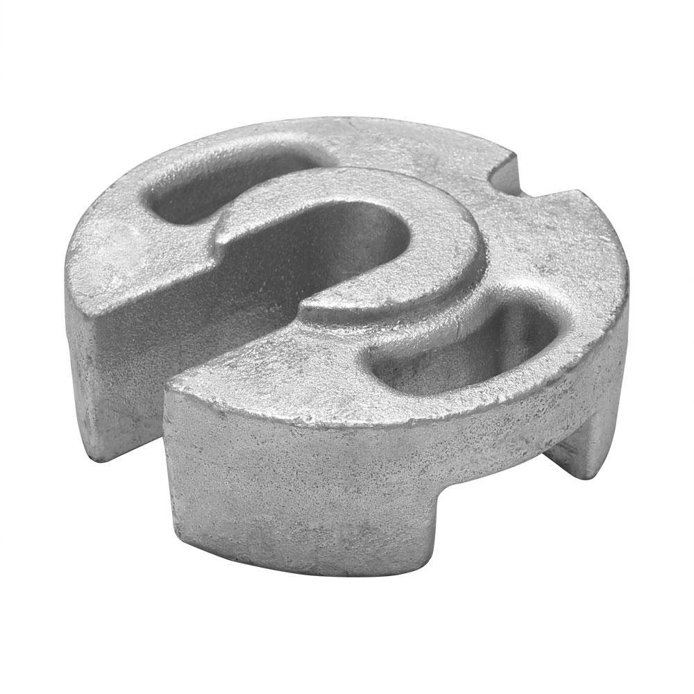 鋳物ウエイト(おもり)20㎏×1個 (メッキ加工 丸型)