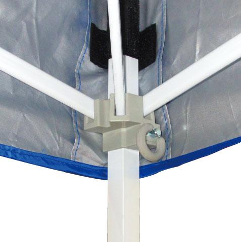 イベント用テントを畳む時もかんたん安心のプルピン式。