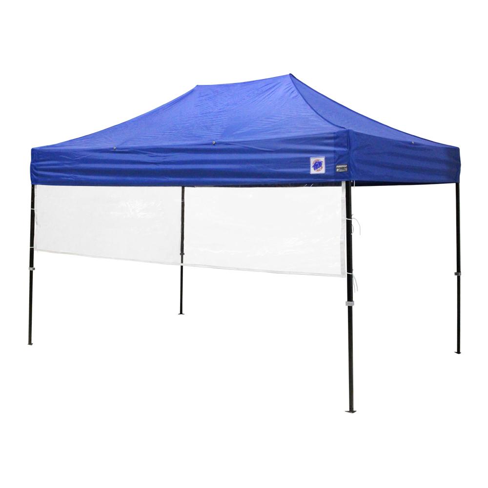 イージーアップのイベント用テントに取り付け可能な透明な横幕です。飛沫感染防止対策にも。